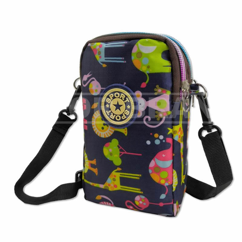 Cellphone Armband Shoulder Bag Pouch - Small Crossbody Phone Bags Wallet Purse for iPhone 6 6S 7 8 Plus X XR XS 11 12 Max Pro Android Samsung Galaxy Pixel for Yoga Running Walking Biking - Animals
