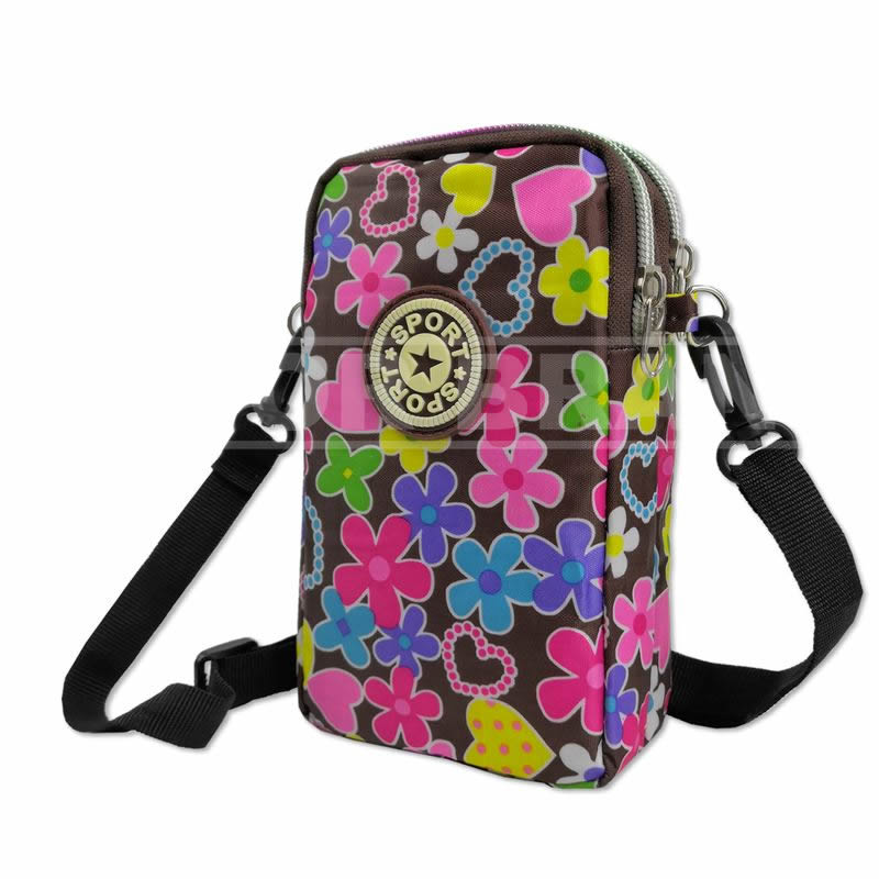 Running Walking Armband Bag for Women - Small Cross Body Cellphone Purse Pouch Wallet Holder for iPhone 6 6S 7 8 Plus X XR XS 11 12 Max Pro Android Samsung Galaxy Pixel Yoga Biking - Little Flowers
