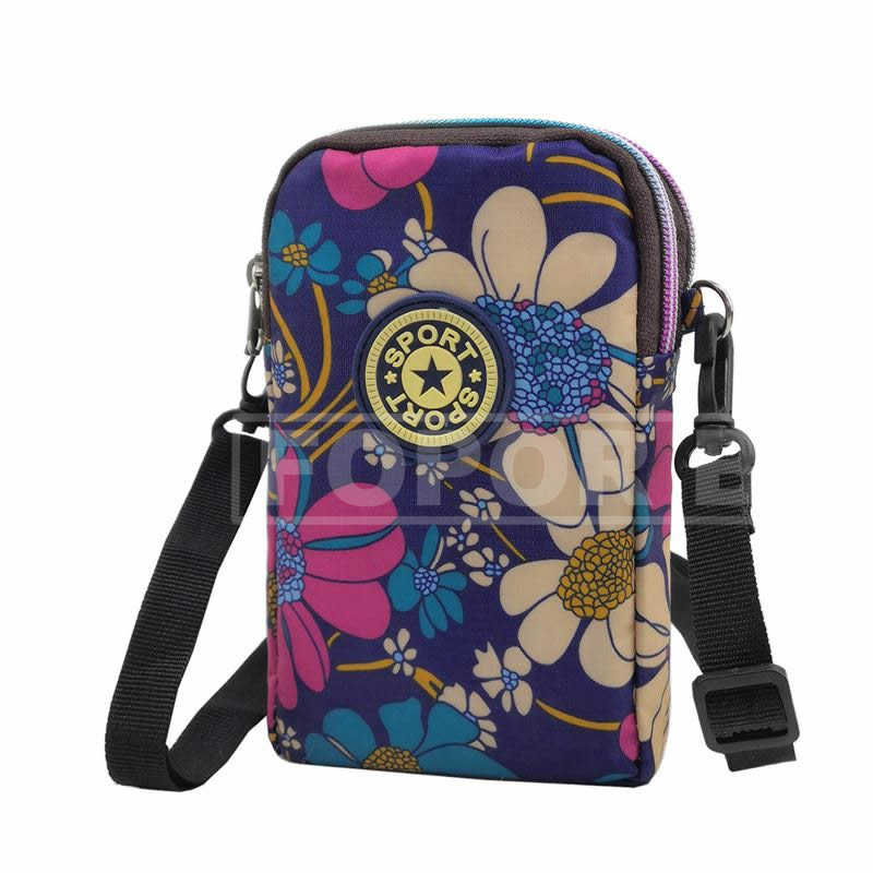 Walking Armband Crossbody Bags for Women - Small Mini Cross body Shoulder Wallet Purse Pouch Bag for iPhone 6 6S 7 8 Plus X XR XS 11 12 Max Pro Android Samsung Galaxy Pixel Yoga Biking - Big Flower