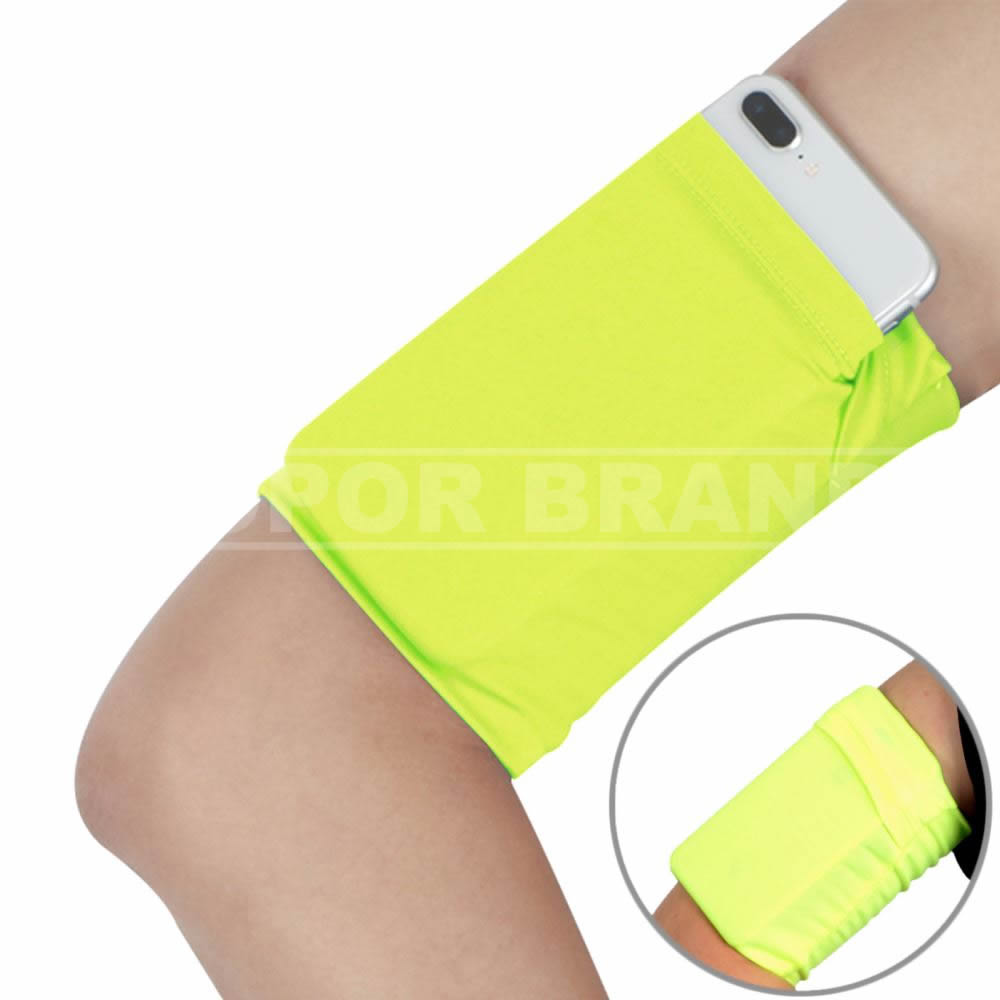 Jogging Armband Wristband Sleeve for Smartphone Cell Phone Arm Wrist Band Sleeve Pouch Case for Jogging Running Walking Exercise Workout Outdoor Sports Travel Gardening Training - Fluorescent Yellow
